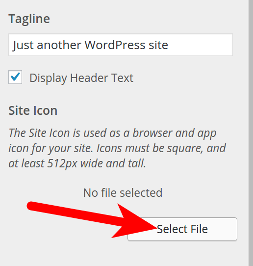 Choosing Favicon in BoldGrid for WordPress