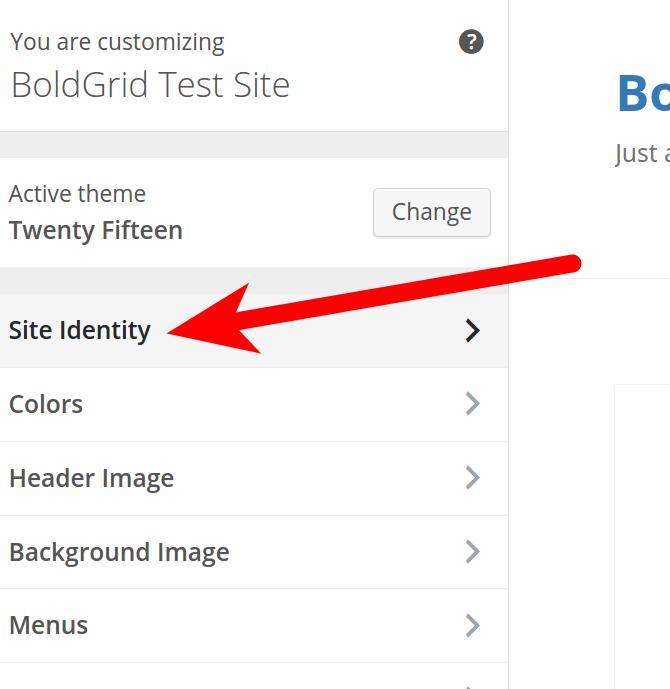 BoldGrid Site Identity