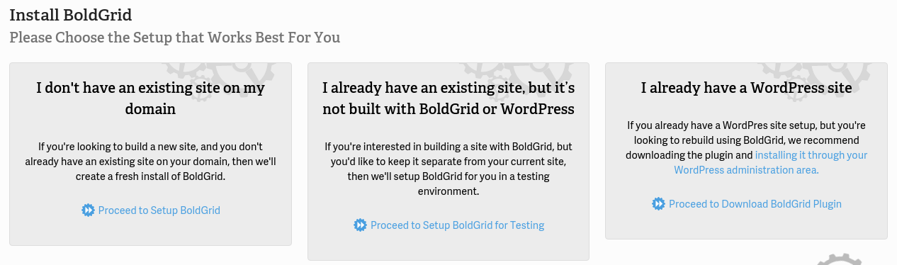 BoldGrid Install icon