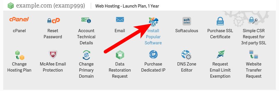 Software Setup link in AMP
