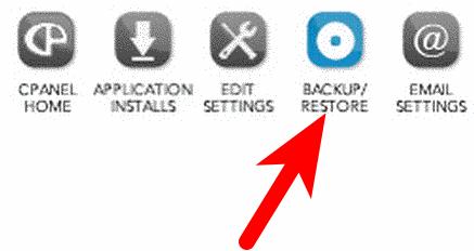 Backup & Restore via Softaculous