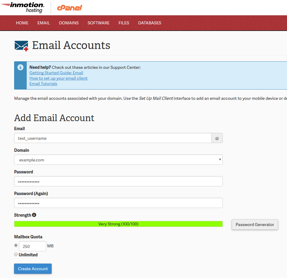 How to Create an Email Account in cPanel | InMotion Hosting Support