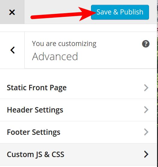 Saving BoldGrid Advanced tab settings