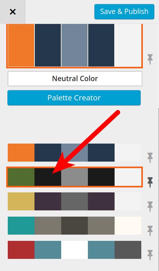 Customizing BoldGrid color scheme