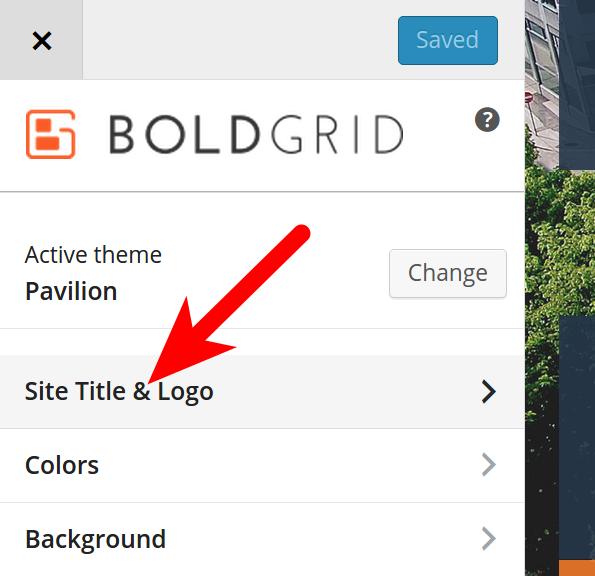 Modify Site Title in BG Customizer