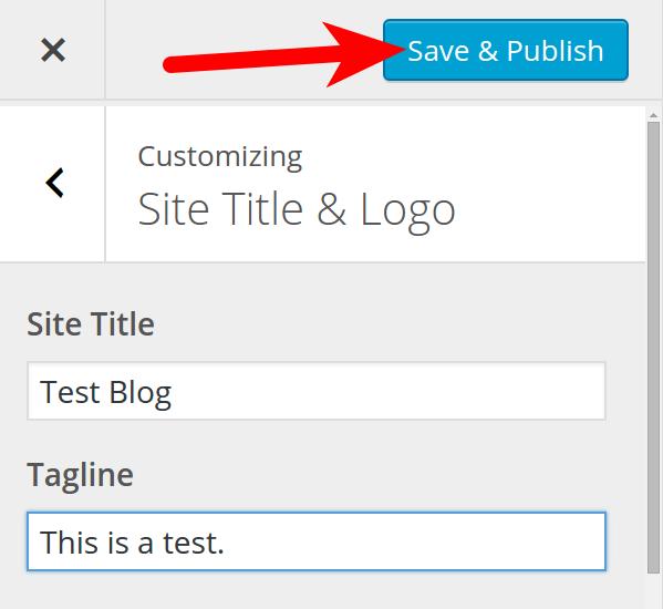 Save & Publish in BoldGrid Customizer