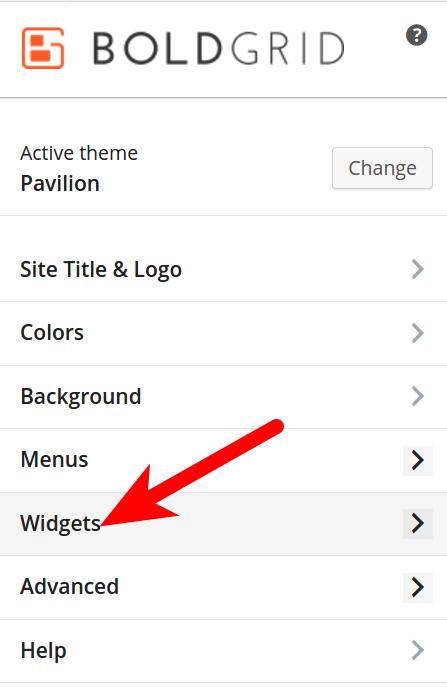 BoldGrid Customizer Widgets