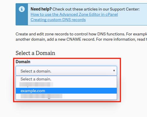 DMARC settings in cPanel