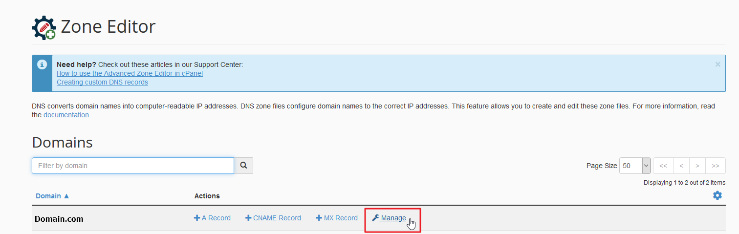 DMARC settings in cPanel