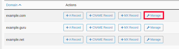 Manage Domain -Setup DMARC