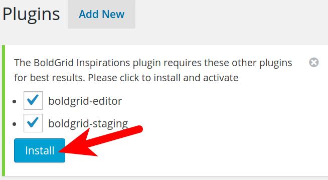 Add Additional BoldGrid Plugins
