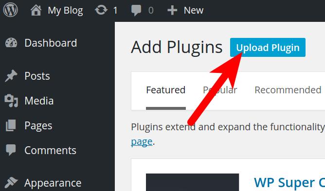 Install BoldGrid Plugin