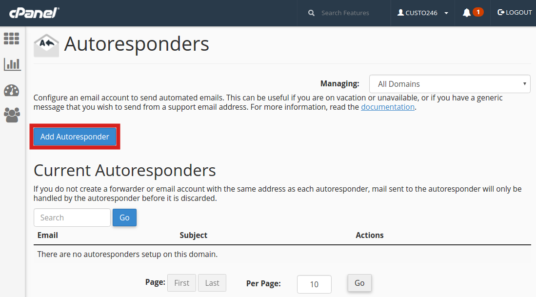 How to Setup an Email AutoResponder in cPanel