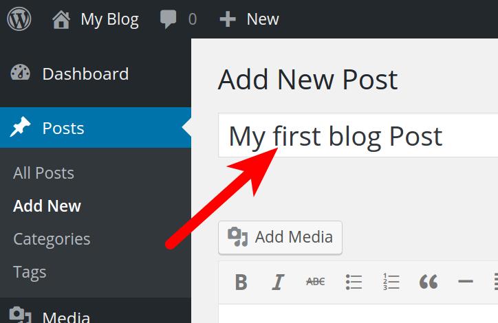Entering Post Title in WordPress