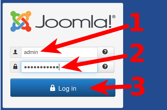 Joomla 3.5 Login steps