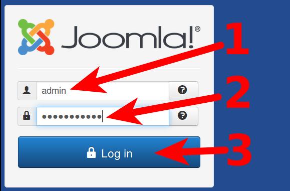 Joomla 3.5 Login steps
