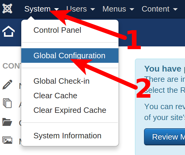 System Global Configuration