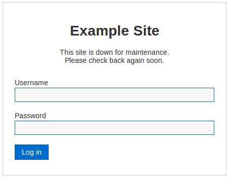 Joomla 3.5 Site Offline Settings