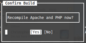 Recompiling Apache