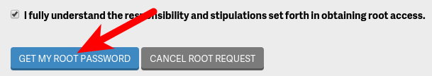Request Root Password for Dedicated Hosting Server