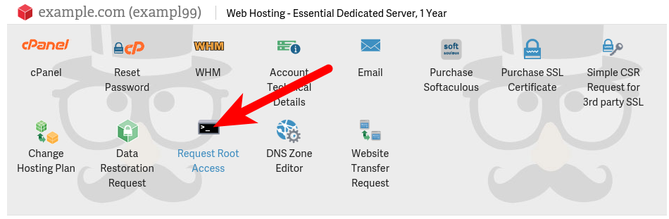 Dedicated Hosting Root Access Request