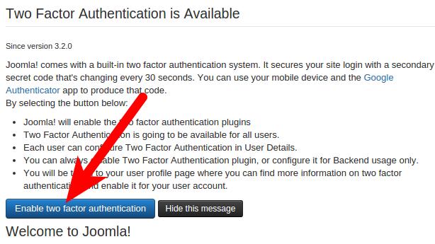 Joomla 3.5 Authentication