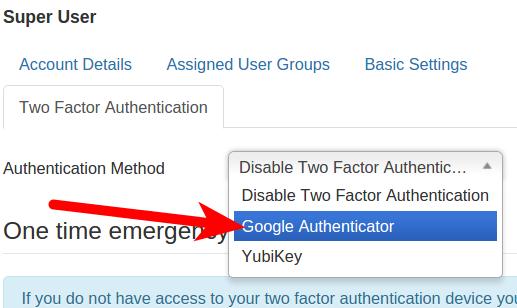 Selecting Authentication Method in Joomla 3.5