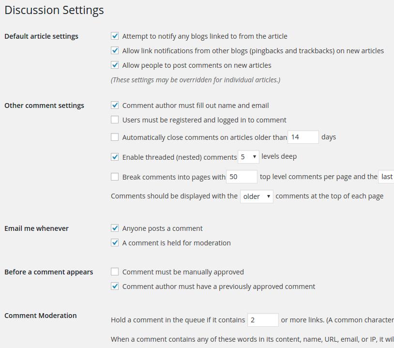 WordPress Dashboard Discussion