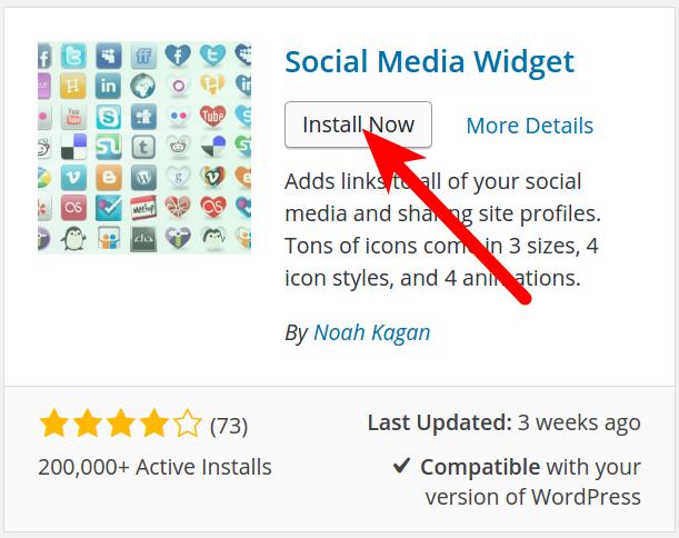 Install the Social Media Widget