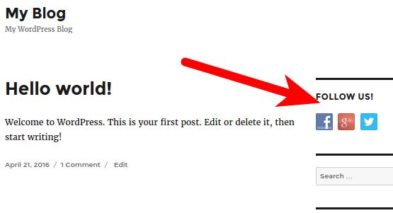 wordpress social media buttons social media widget buttons