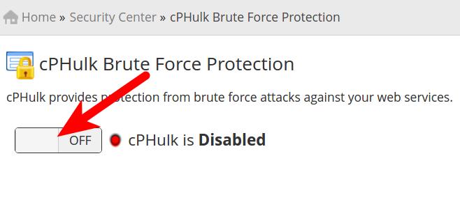 dedicated hosting cphulk disabled cphulk disabled