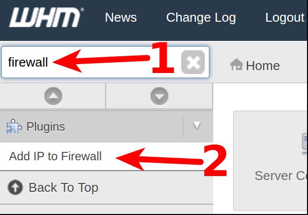 dedicated hosting ssh add ip to firewall
