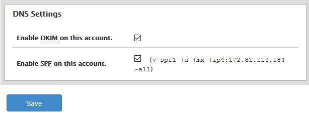 Modify Mail DNS settings