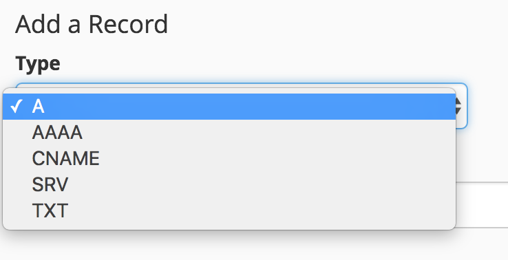 select record  type