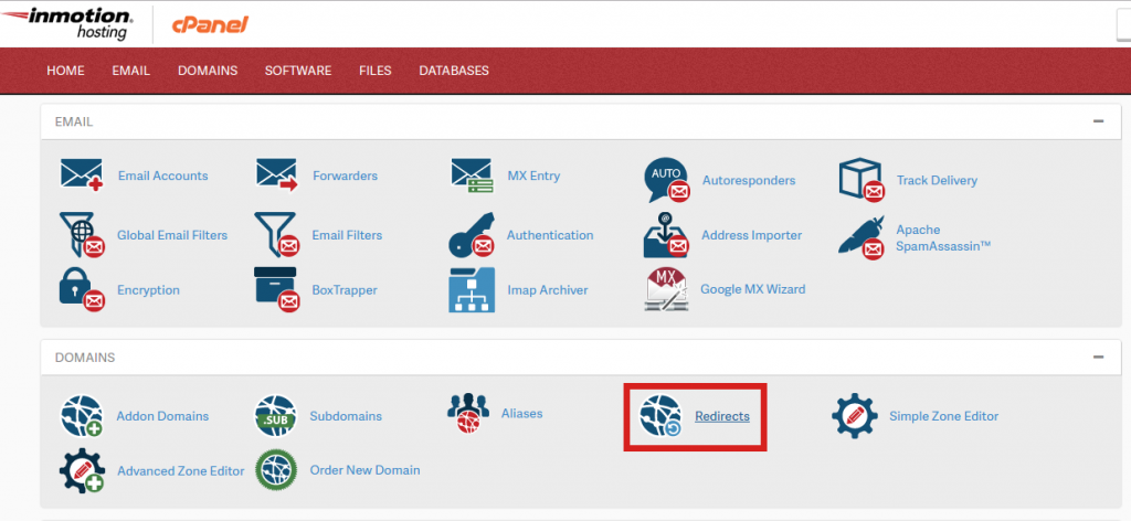 Redirect Button cPanel