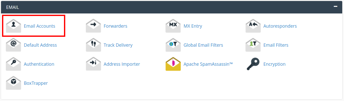 cpanel email settings email accounts cpanel