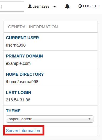 cpanel_server-information