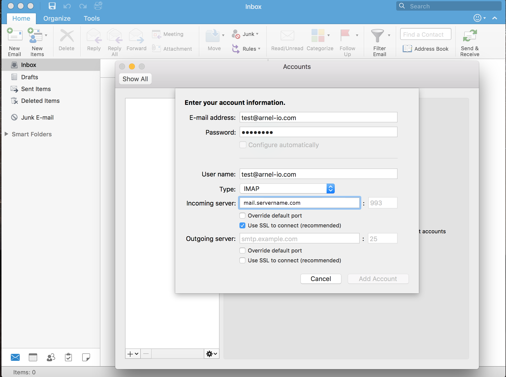 How to Setup Outlook 2016 for Mac | InMotion Hosting Support