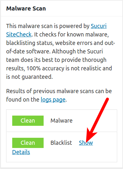 wordpress plugins ithemes security show malware scan details