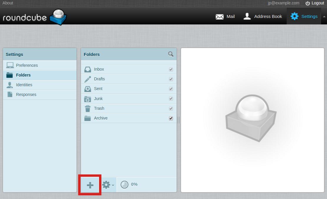 email imap folders add folder