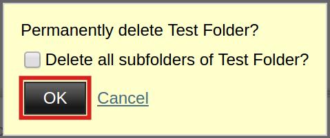 email imap folders permanently delete folder