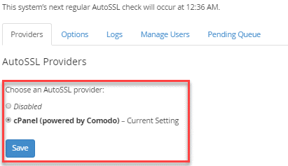 How to use AutoSSL in WHM | InMotion Hosting Support Center