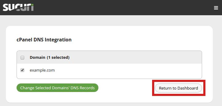 security sucuri firewall return to sucuri dashboard