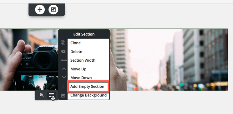 Add empty section
