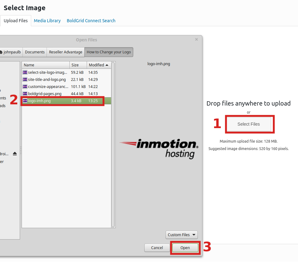 reseller advantage change logo selecting logo file