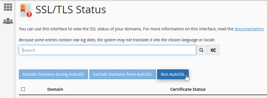 Run AutoSSL