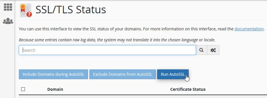 Run AutoSSL