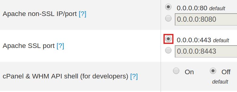 Set Default SSL Port