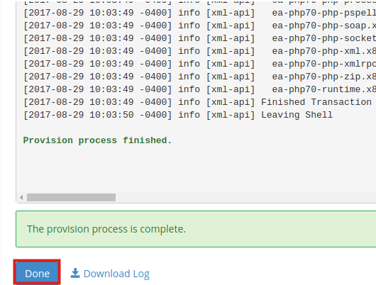 opcache done provisioning opcache