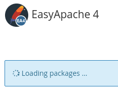 Loading packages screen